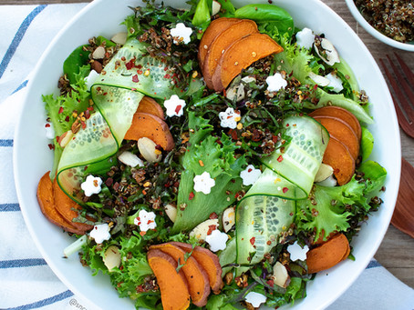 Chimichurri Quinoa Green Salad