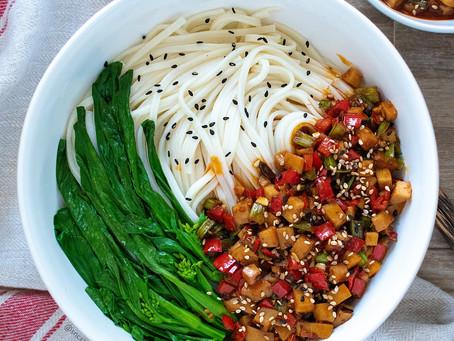 Spicy Mushroom Sauce & Noodles