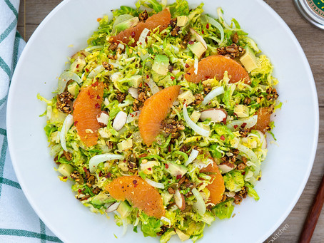 Citrus Brussel Sprouts Salad