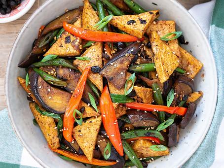 Stir Fried Eggplant and Tofu in Salted Black Beans