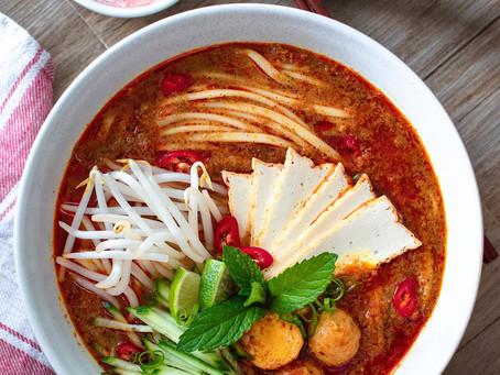 Malaysian Curry Laksa (Vegan)