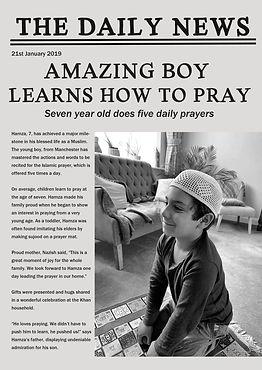 personalised muslim praying newspaper.jpg