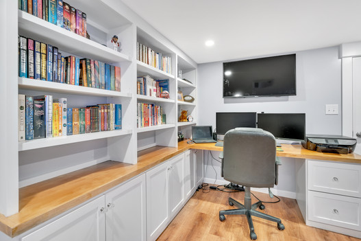 Home office storage cabinets and desk