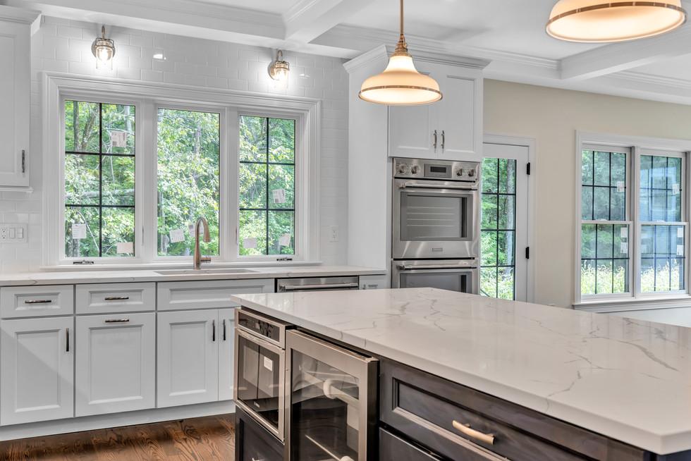 Marble kitchen island worktop