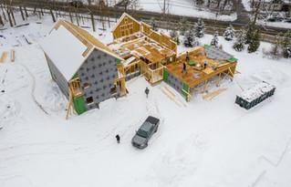 Drone Construction Site Bird Eye View