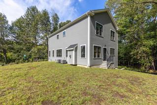 Custom home project (backyard view)