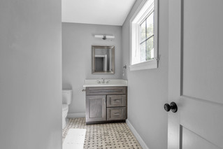 Single sink bathroom