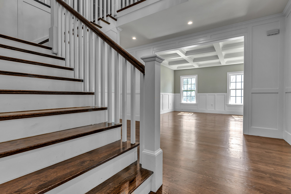 Stairway and free-flowing living area