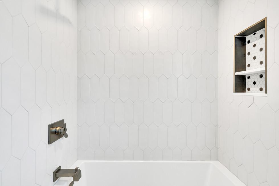 Bathroom tile wall design