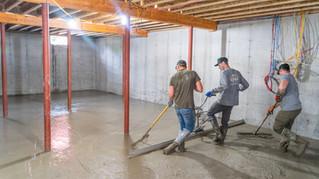 King Philip Concrete Basement Flooring