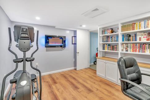 Basement home office remodel