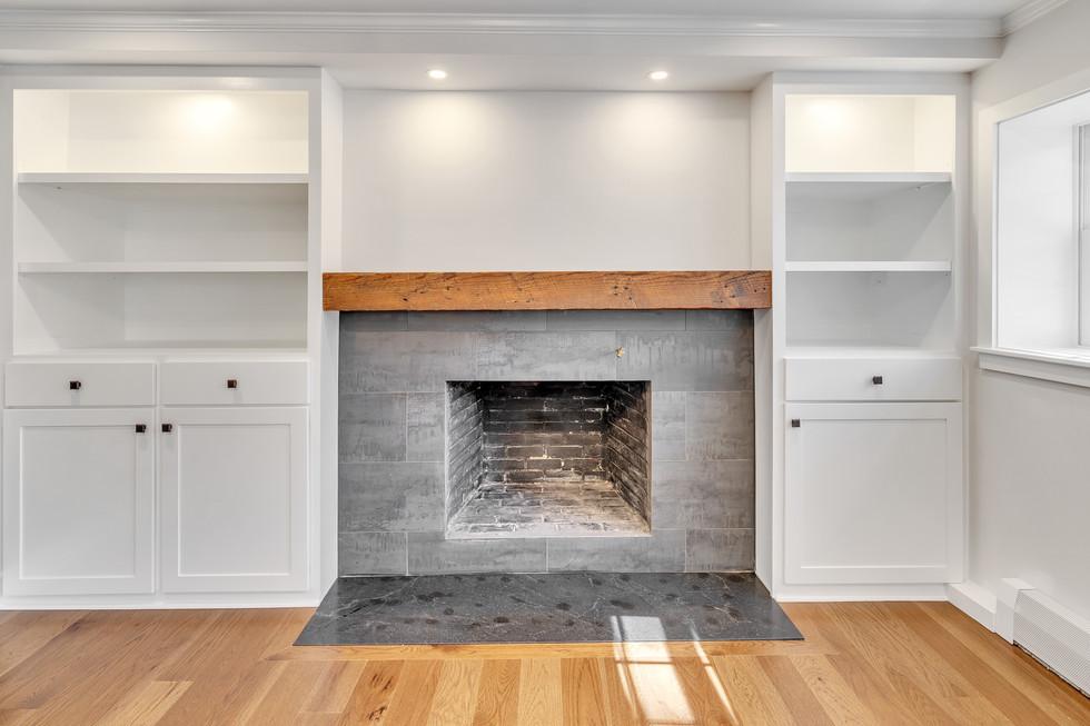 Custom millwork fireplace design