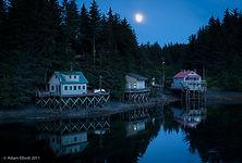 Seldovia's waterfront houses