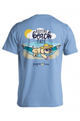 PUPPIE LOVE - RESTING BEACH FACE