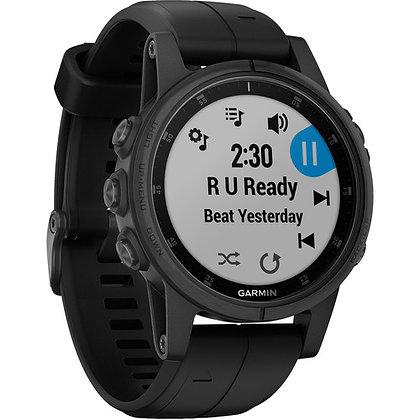 Garmin fenix 5S Plus Sapphire Sport Training GPS Watch (42mm, Black Band)