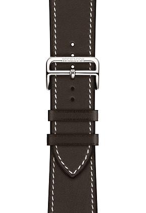 Hermès Leather Single Tour Deployment Buckle (Caja de 44mm)