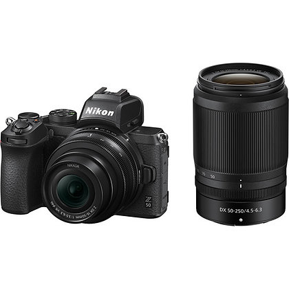 Nikon Z50 Mirrorless Digital Camera with 16-50mm and 50-250mm Lenses