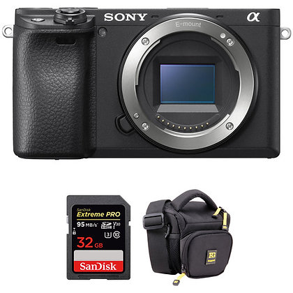 Sony Alpha a6400 Mirrorless Camera with Bag | Memory Bundle A