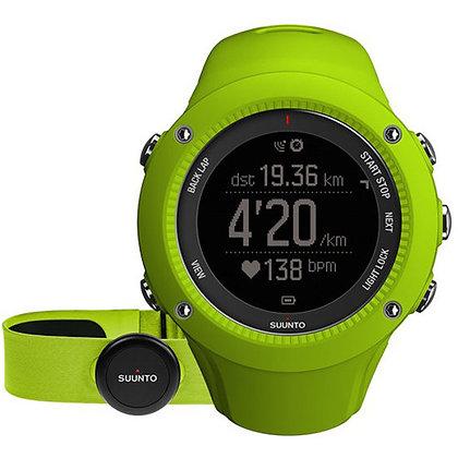 SUUNTO Ambit3 Run Sport Watch withSmart Sensor Heart Rate Monitor (Lime)