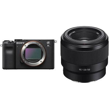 Sony Alpha a7C Mirrorless Digital Camera with 50mm Lens Kit Black