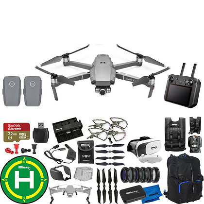 DJI Mavic 2 Zoom with Smart Controller, Accesorios, 3 Extra Battery Bundle D