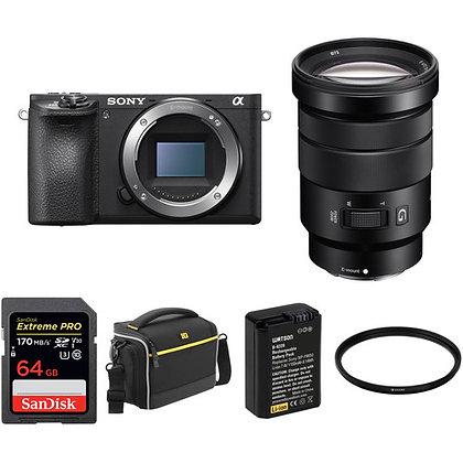 Sony Alpha a6500 Mirrorless Digital Camera with 18-105mm Lens Bundle C
