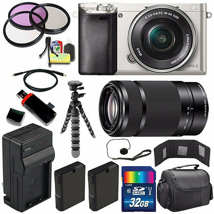 Sony Alpha a6000 Mirrorless with 16-50mm Lens Bundle F