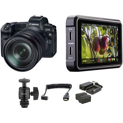 Canon EOS R Mirrorless Digital Camera with 24-105mm Lens and Ninja V Kit
