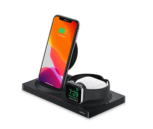 3-in-1 Wireless Charger for iPhone + Apple Watch + AirPods