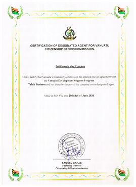 Certificate of Designated Agent.jpg