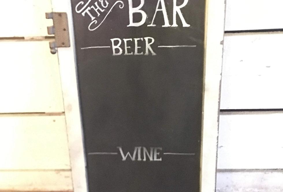 Bar Chalk Sign