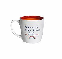 'When it rains' mug