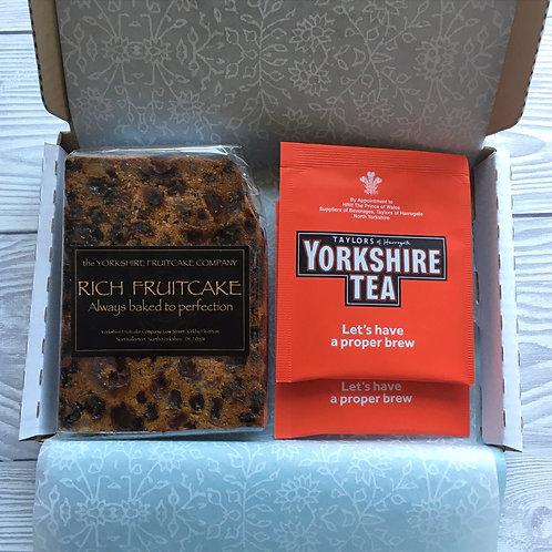 Mini Letterbox Tea with Large Slice of Cake