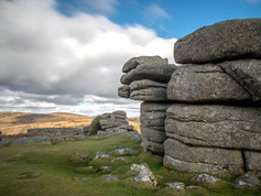 One of the many tors on Dartmoor