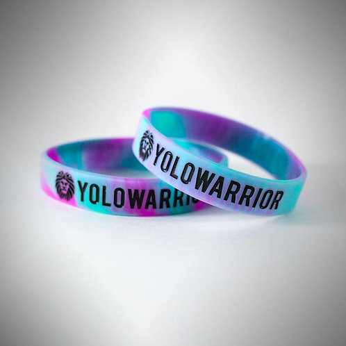 Purquoise Swirl Wristband by YOLOWARRIOR®