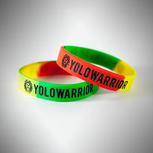 Rasta Stripe Wristband by YOLOWARRIOR®