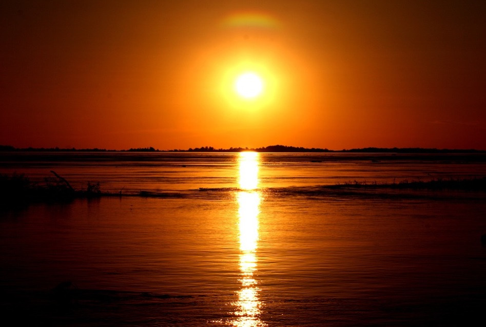 Pôr do sol, Rio Amazonas - Brasil | Foto Pixabay