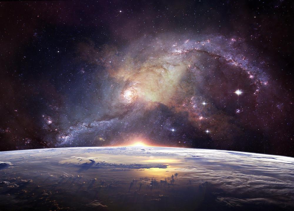 Planeta Terra visto do espaço sideral   Foto Pixabay