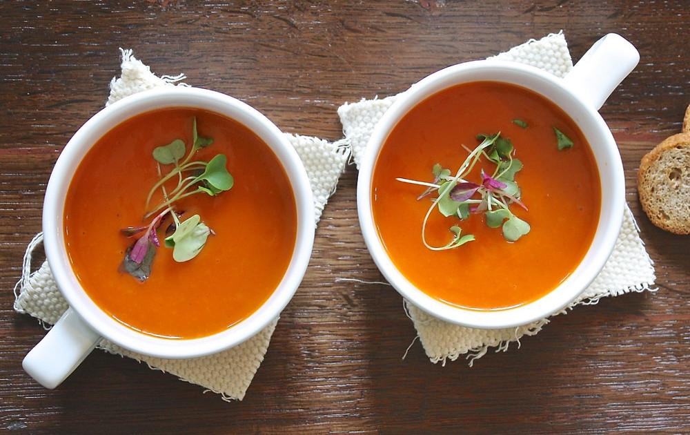 Sopa Superfácil de Tomate com Manjericão | Foto Pixabay