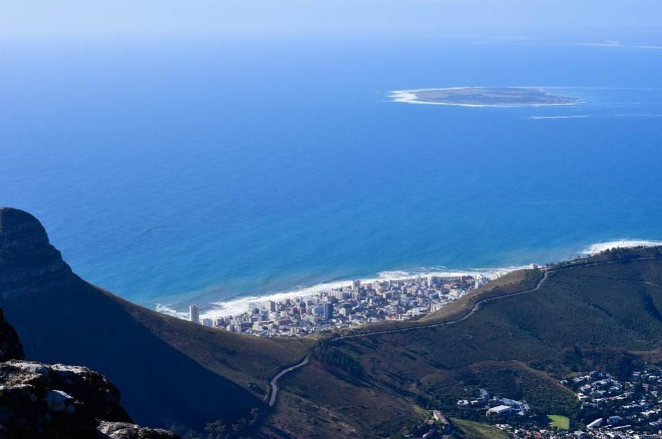 Vista Aérea da Montanha da Mesa na África do Sul, Cidade do Cabo | Foto Pixabay
