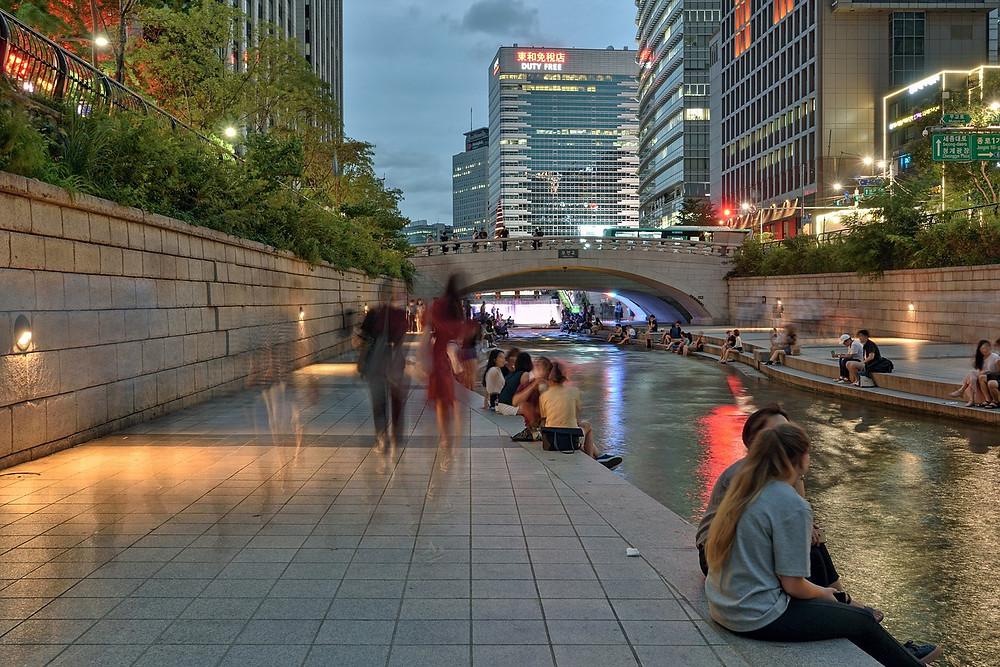 Revitalização do Espaço Público de Cheonggyecheon em Seul | Foto Pixabay