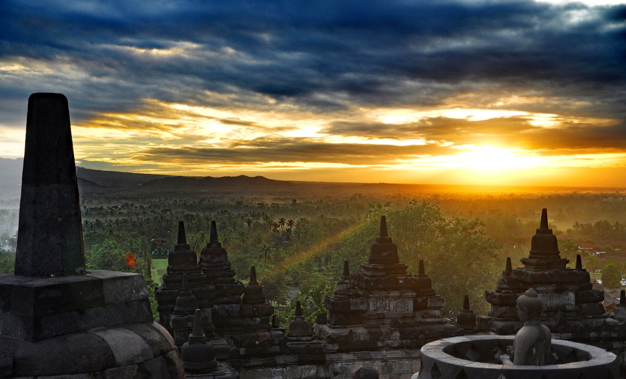 Templo de Borobudur na Indonésia | Foto Pixabay