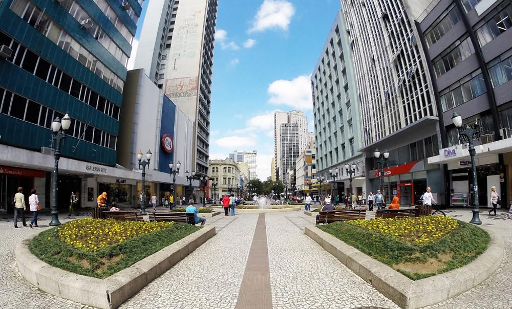 Rua de Pedestres em Curitiba | Foto Pixabay