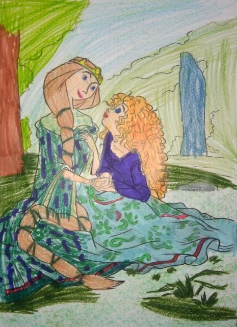 Desenho Infantil | Mãe e filhinha