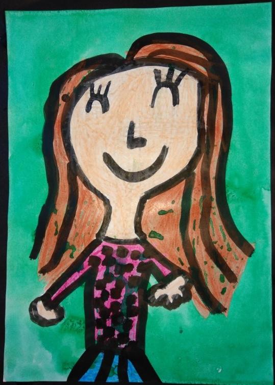 Desenho Infantil | Menina feliz