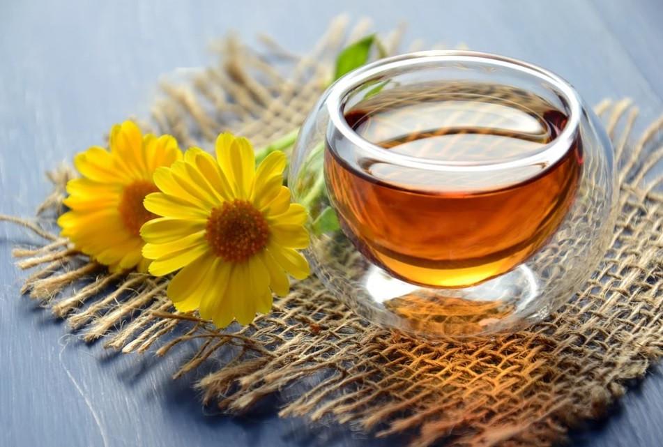 Chá de Calêndula   Foto Pixabay