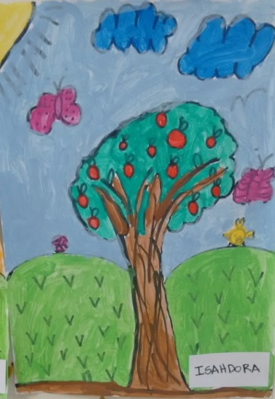 Desenho Infantil | Árvore com frutas