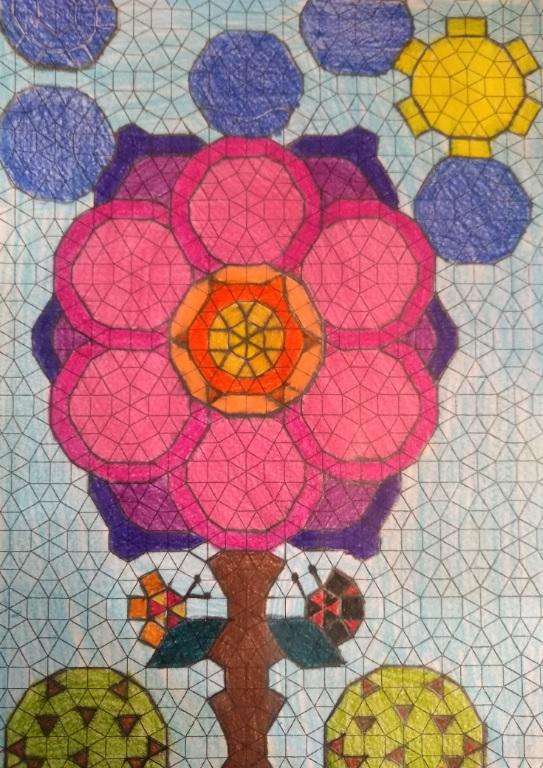 Desenho Infantil | Árvore em mosaico