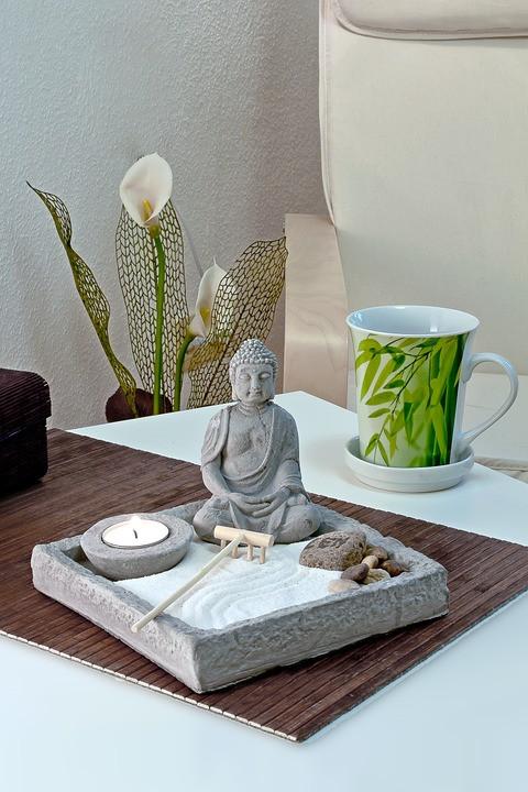 Buda Zen na decoração   Foto Pixabay