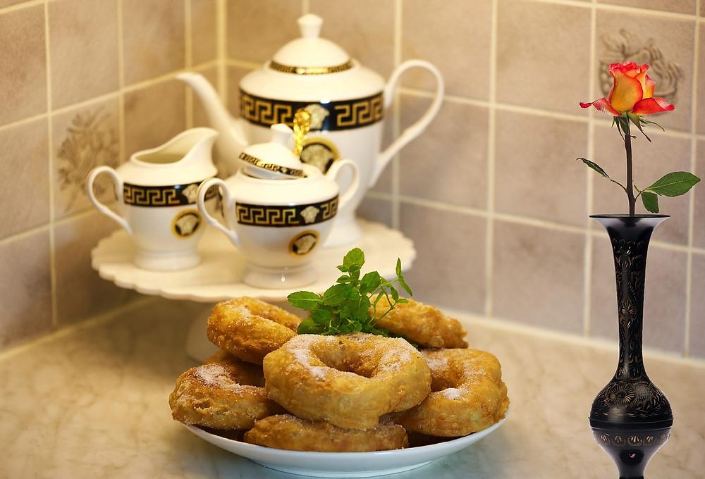 Prato com Picarones Peruanos no chá da tarde | Foto Pixabay